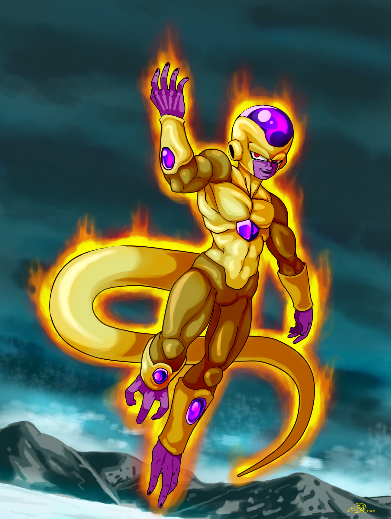 Golden frieza wallpaper wallpapersafari for Deviantart wallpaper