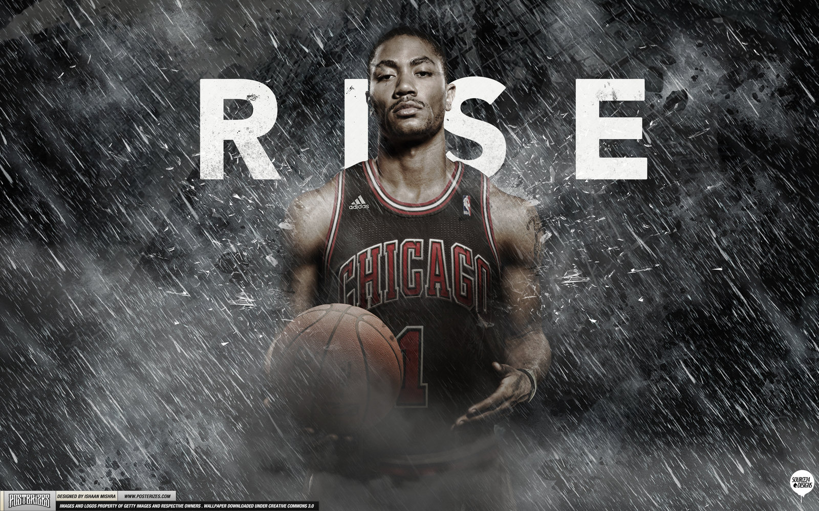 Derrick Rose Rise Wallpaper by IshaanMishra 1600x1000