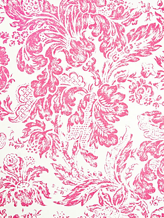 pink and white damask wallpaper   weddingdressincom 534x706
