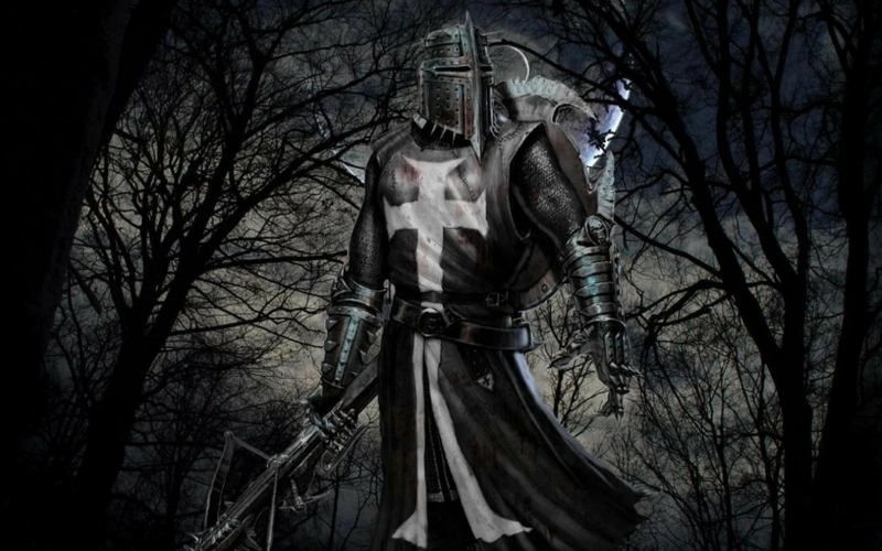knights crusader crossbows templar Art Black HD Desktop Wallpaper 800x500