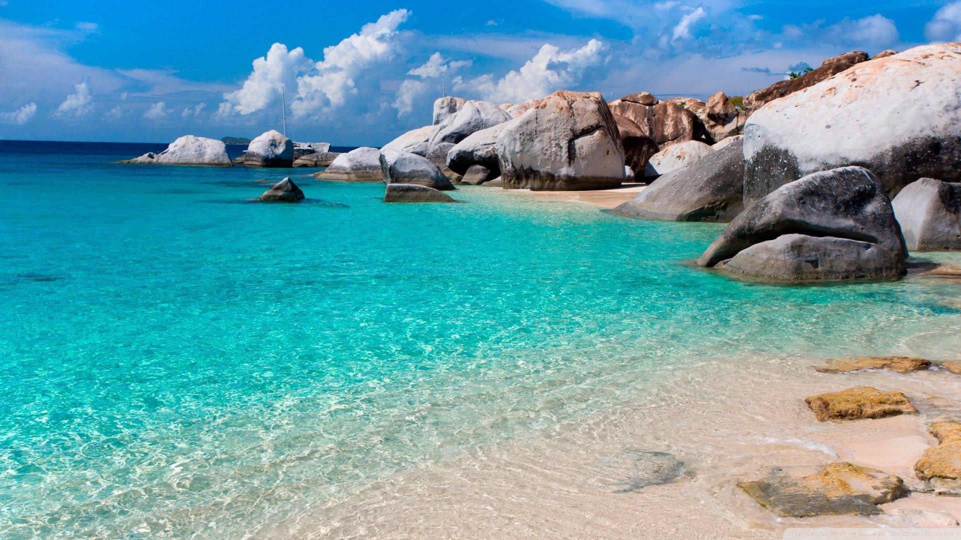 Beautiful Summer Beach Scenes Wallpapers