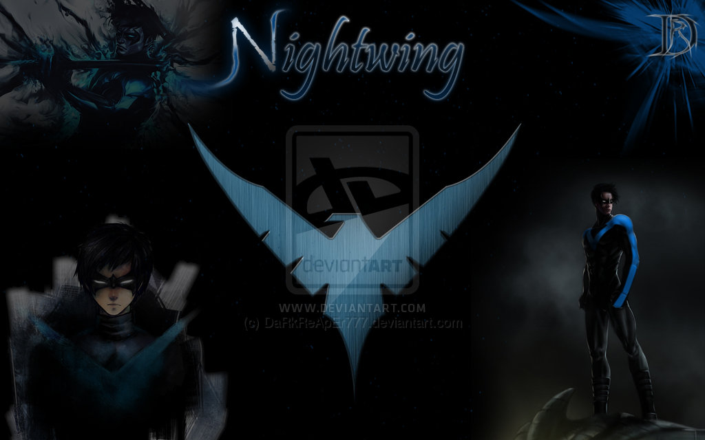 Nightwing Iphone Wallpaper Hd Nightwing wallpaper by darkreaper777 1024x640
