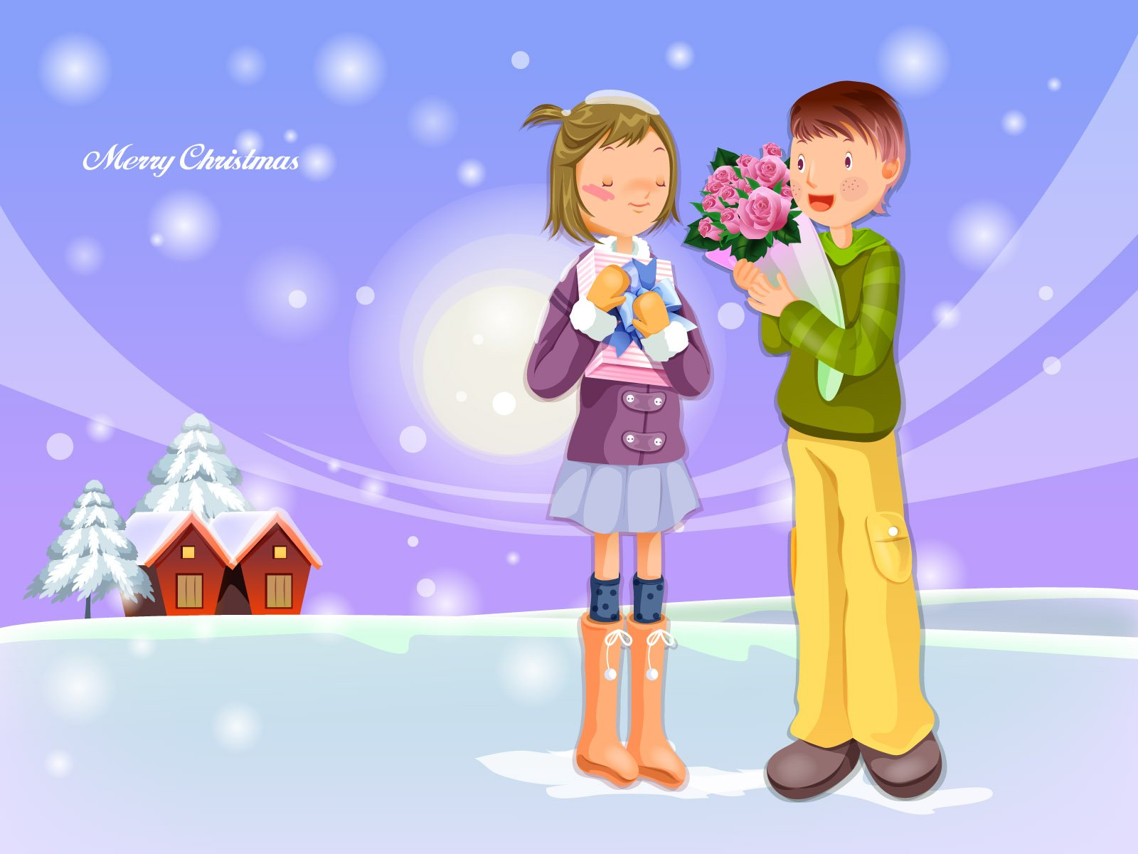Wallpaper Of Cartoon Image Christmas Gifts Wallpaper World 1600x1200