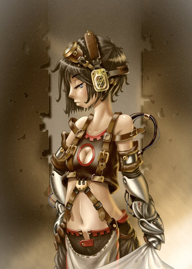 Pin Art Steampunk Girl Wings Gear Hat Wallpapers 757x1056
