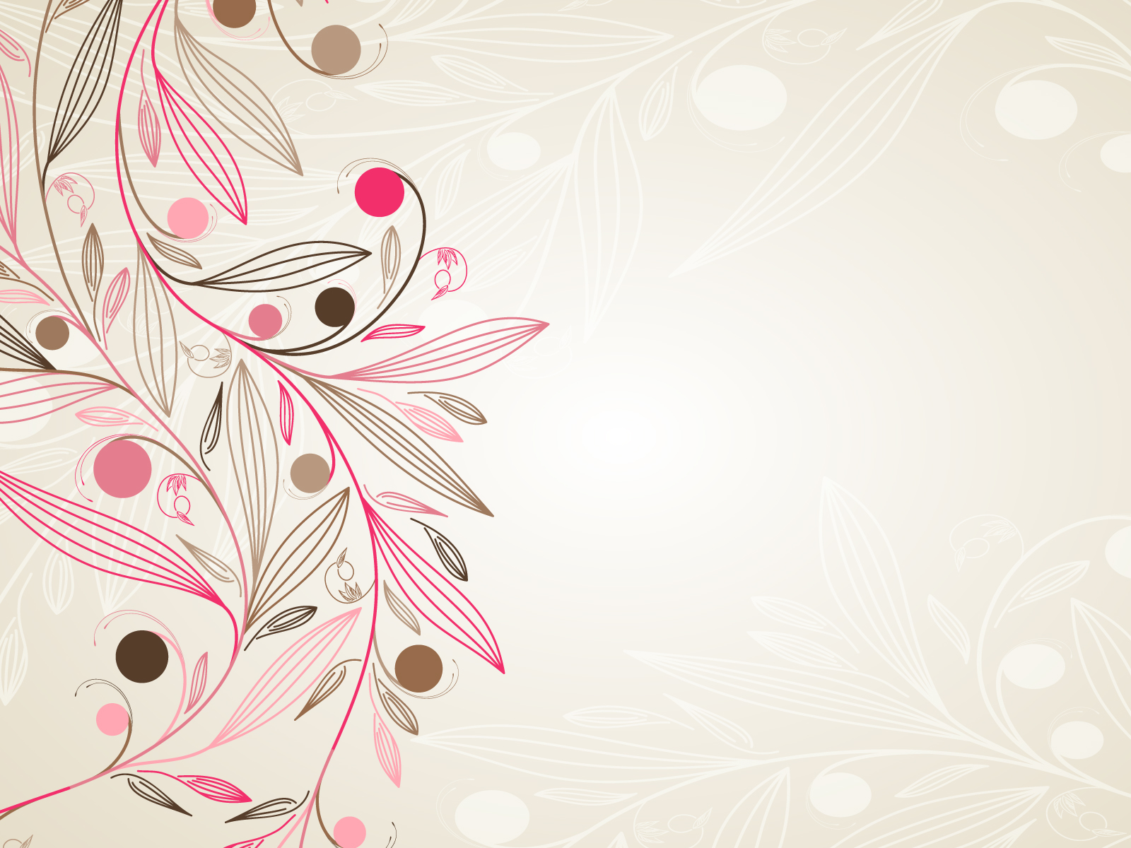 Floral Simple Download PowerPoint Backgrounds   PPT Backgrounds 1600x1200