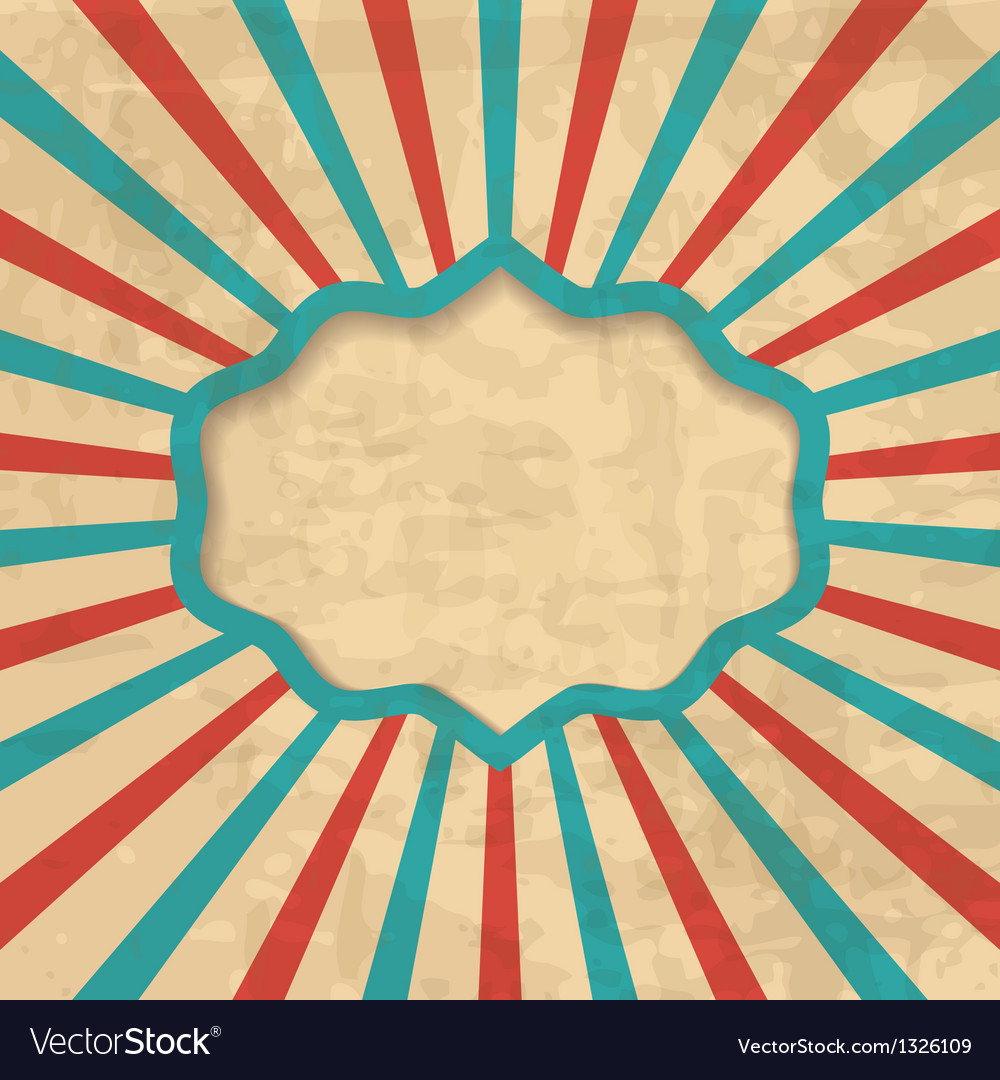 Retro background with a frame Royalty Vector Image 1000x1080