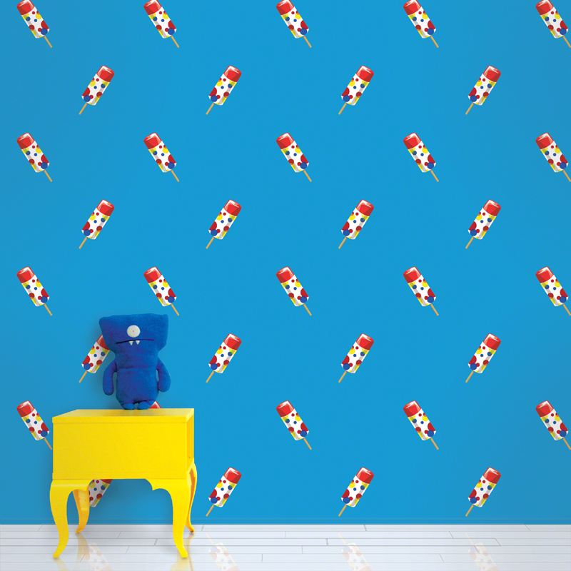 Push Pops in Blue Removable Wallpaper by Wallcandy Arts 800x800