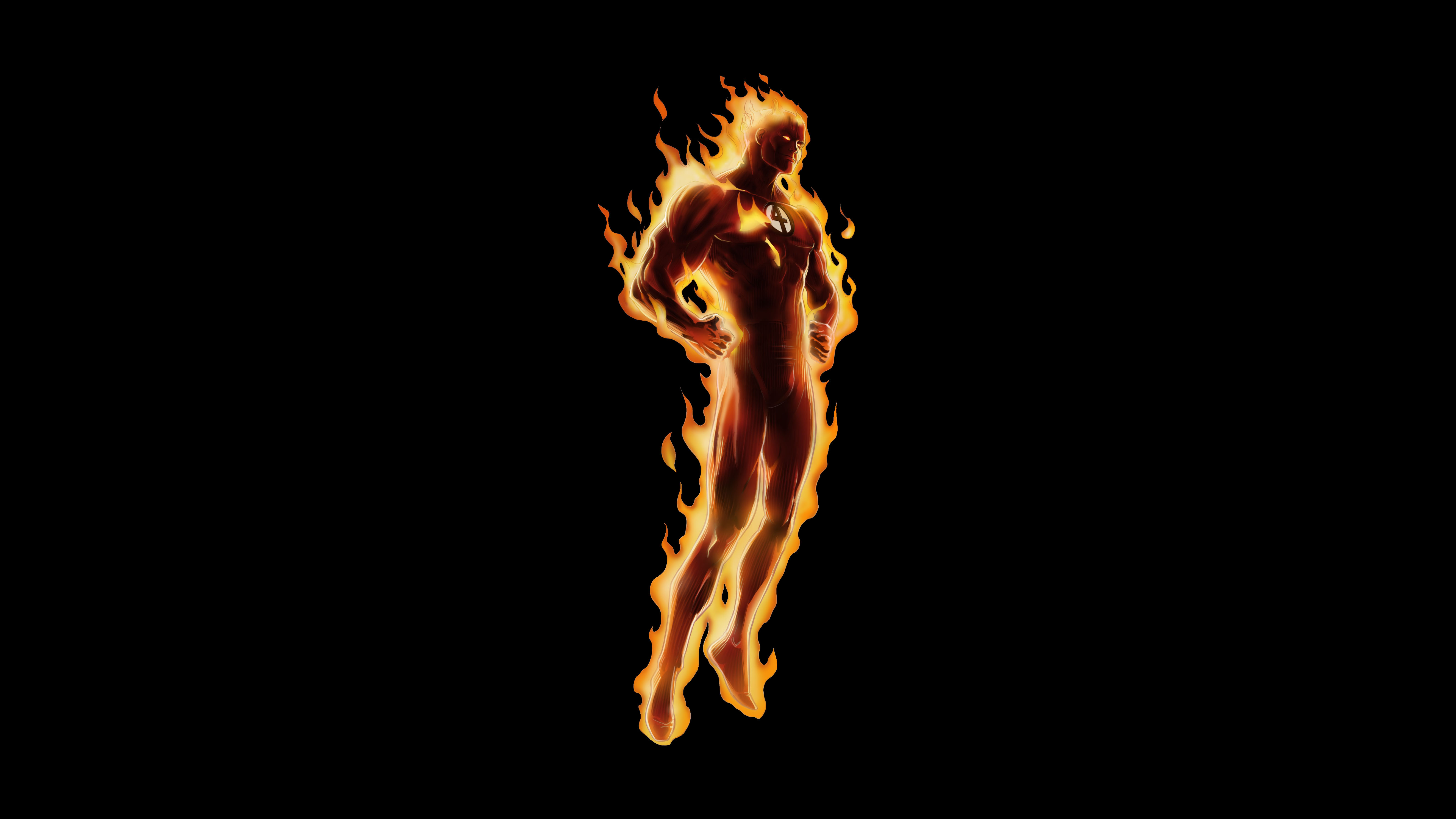 Human Torch HD Wallpapers Backgrounds 5300x2981