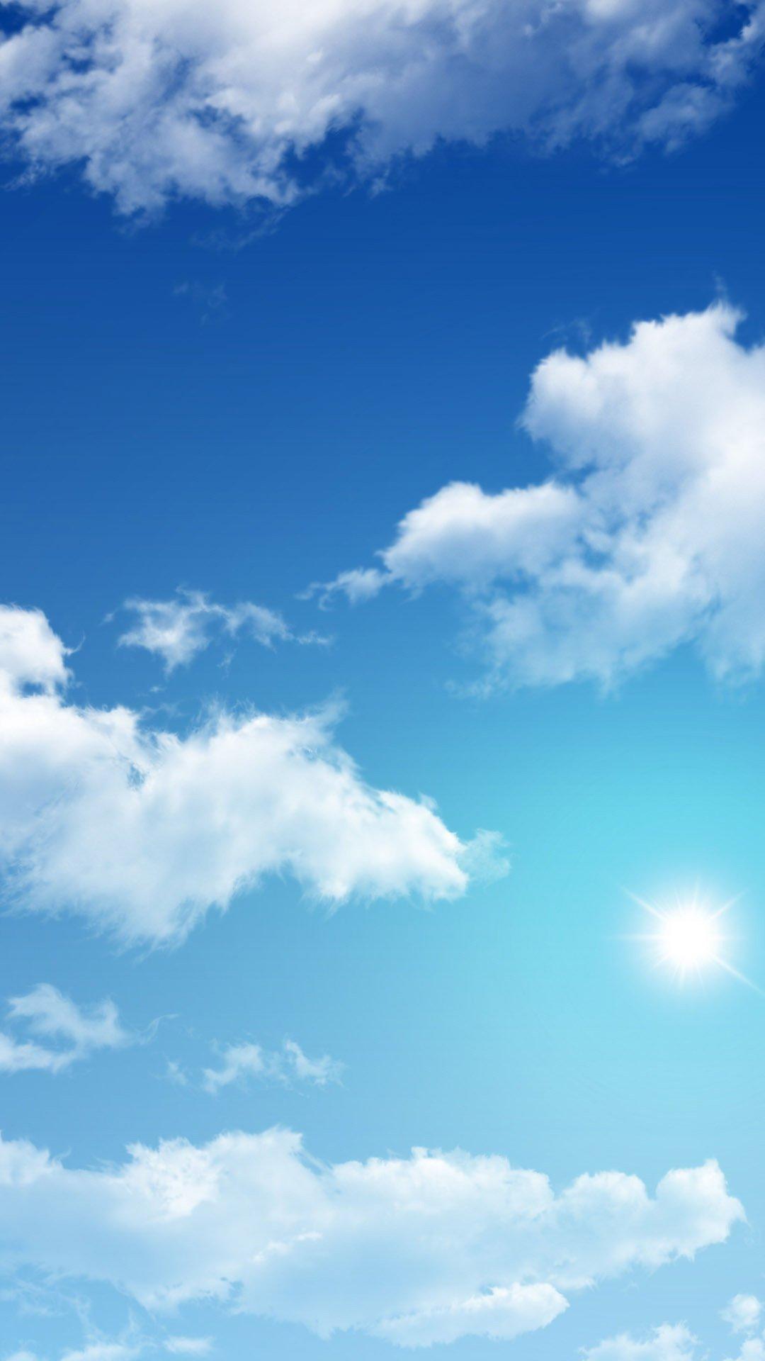 Sunny sky Wallpaper 1080x1920