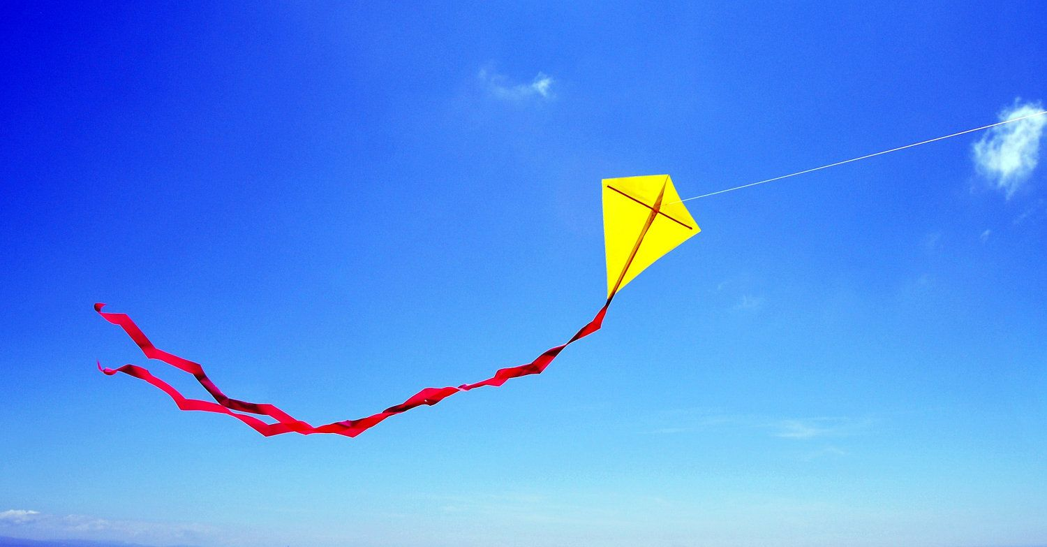 Person Flying Kite Up Up Away Go fly a kite Kite Makar 1500x783