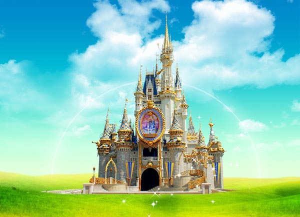Disney Princess Castle Background Wallpaper 600x433