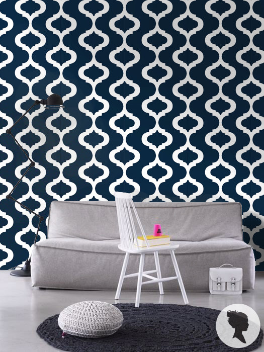 Moroccan Pattern Self Adhesive Removable Wallpaper by Livettes 525x700