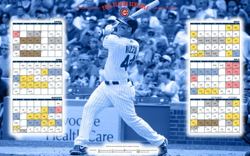 Name Chicago Cubs 2015 MLB Season Schedule Wallpaper 800x500