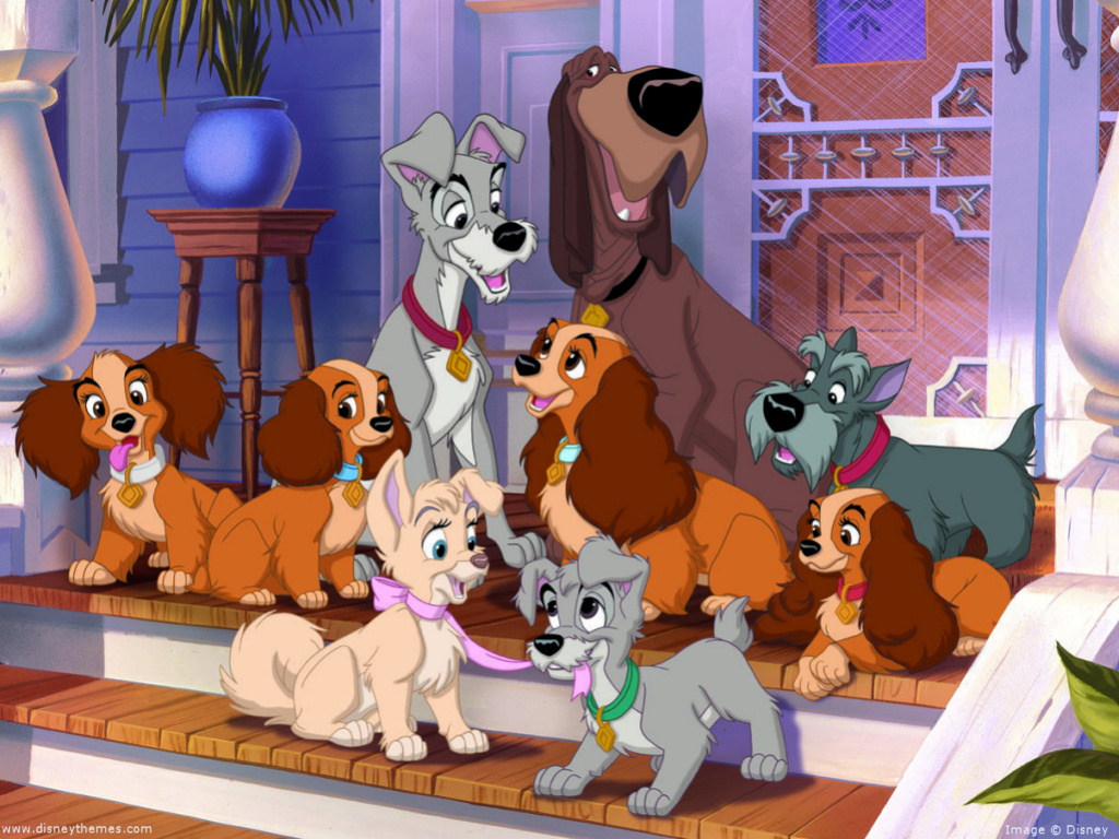 Lady And The Tramp Wallpaper   Classic Disney Wallpaper 7326007 1024x768