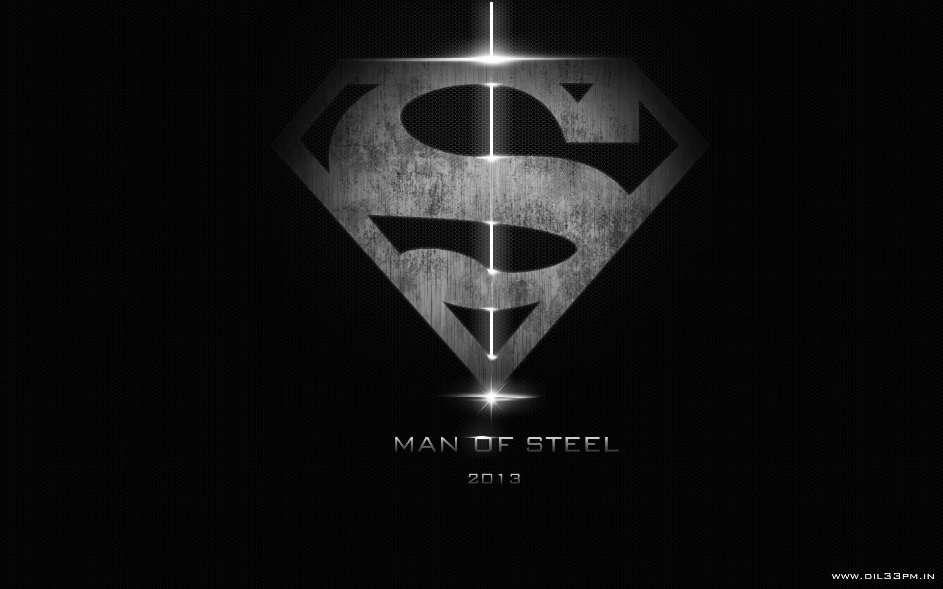 Superman Man of Steel Dark Logo Exclusive HD Wallpapers 1904 1920x1200