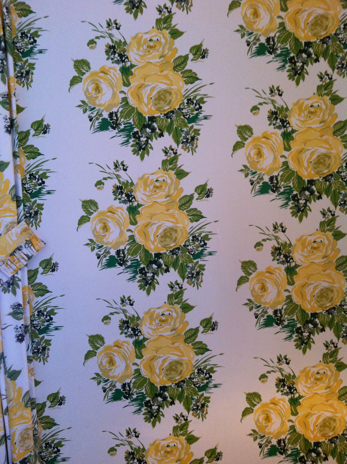 rincess Grace Rose Wallpaper by Carleton Varney in our hotel bedroom 1195x1600