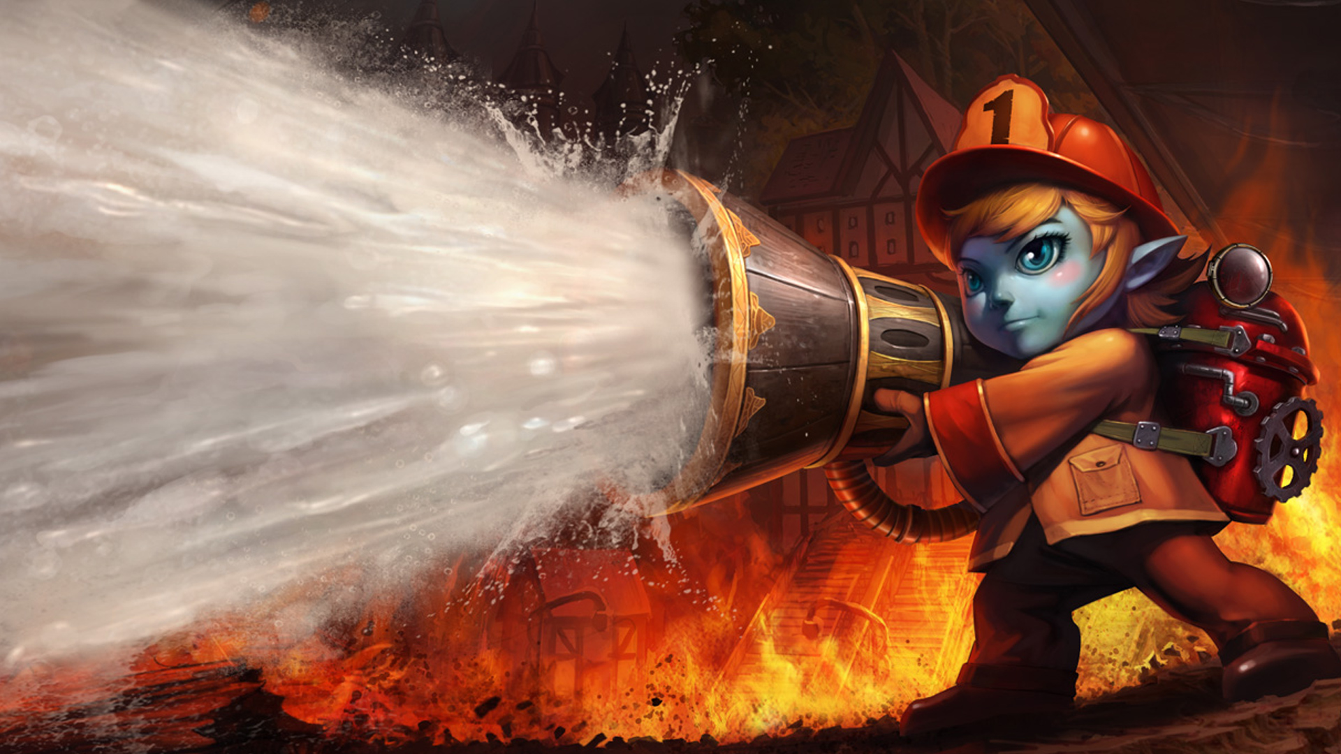 soraka splash firefighter skin league of legends girl hd wallpaper 1920x1080