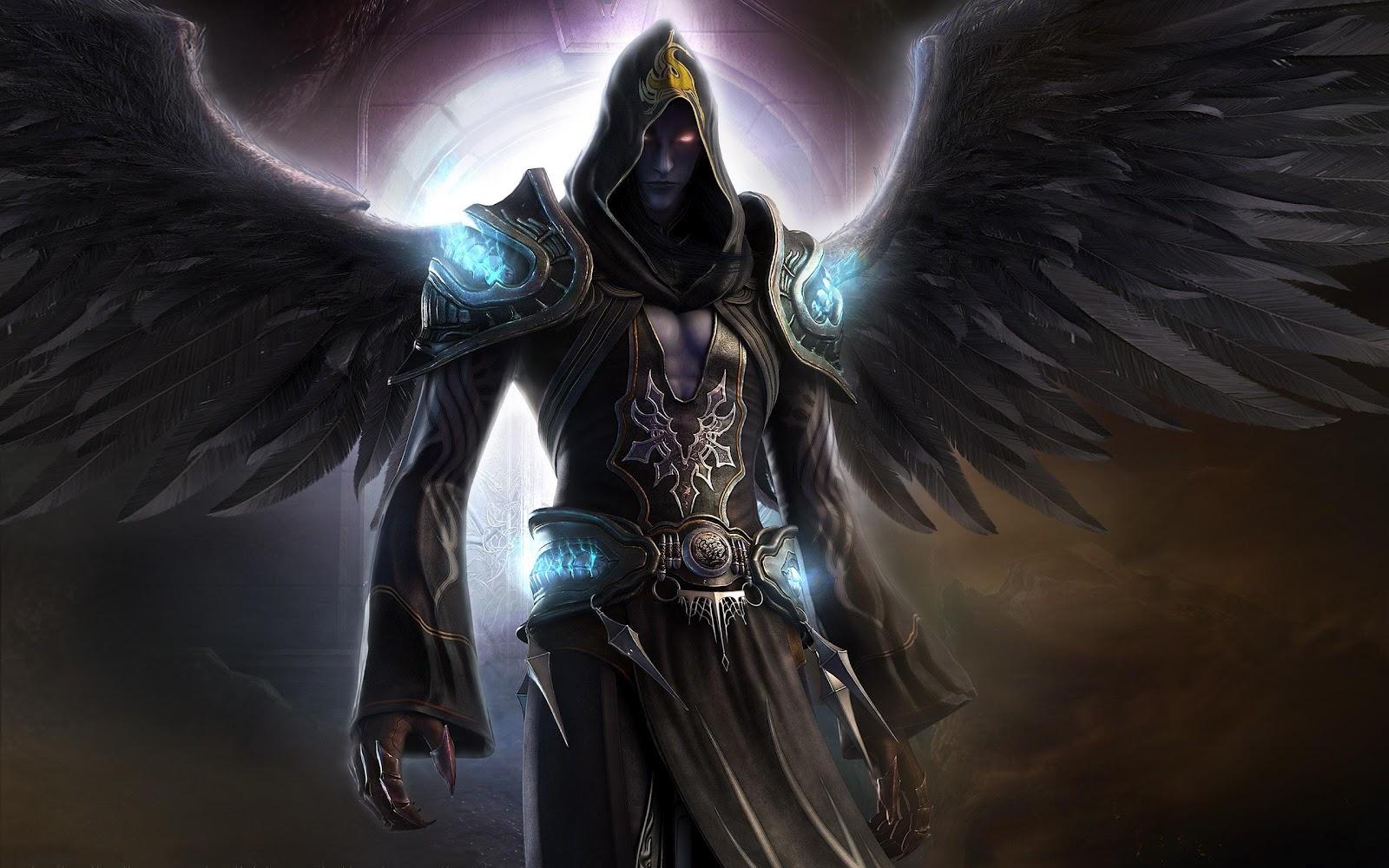 Черный ангел воин фото