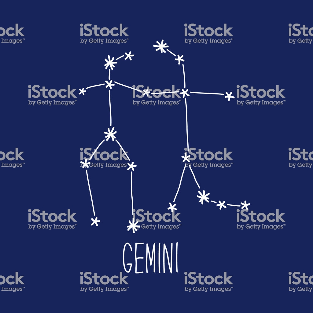Cute Background With Schematic Hand Drawn Zodiac Constellation Of 1024x1024
