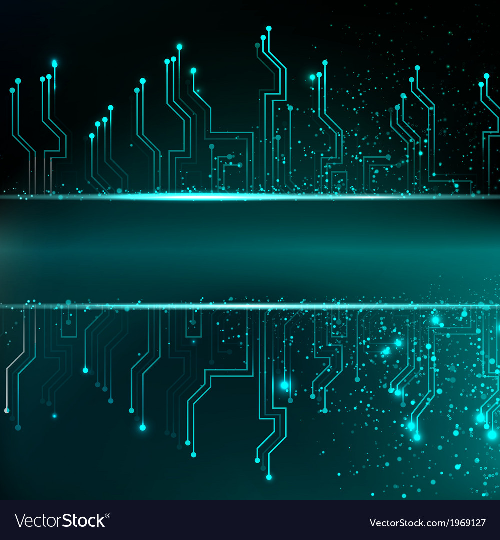 Circuit board background with blue electronics Vector Image 1000x1080