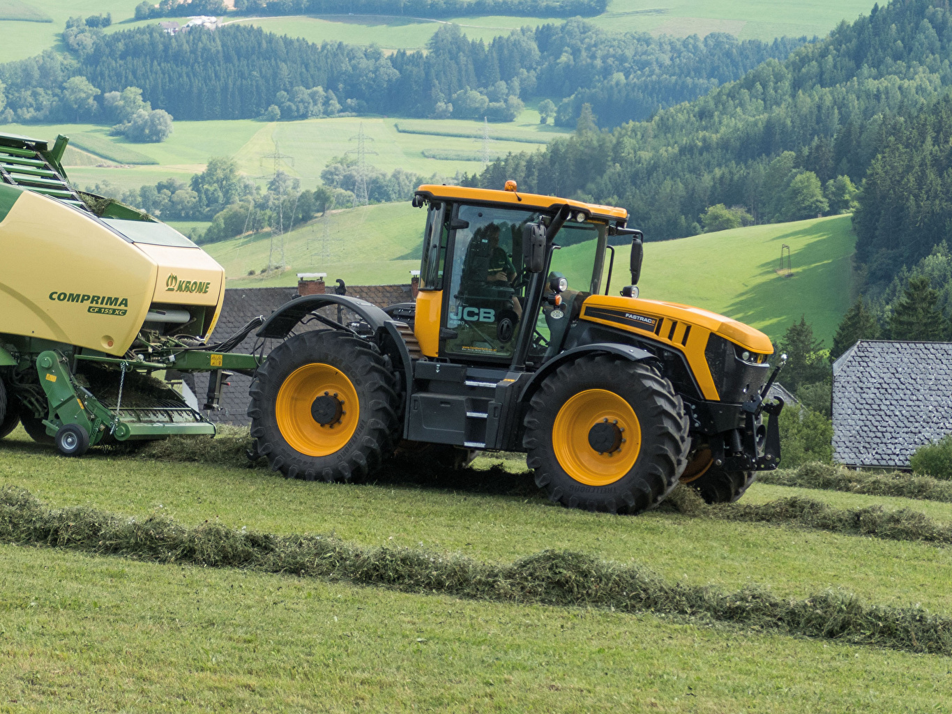 Wallpaper Agricultural machinery tractors 2014 18 JCB Fastrac 4220 1365x1024