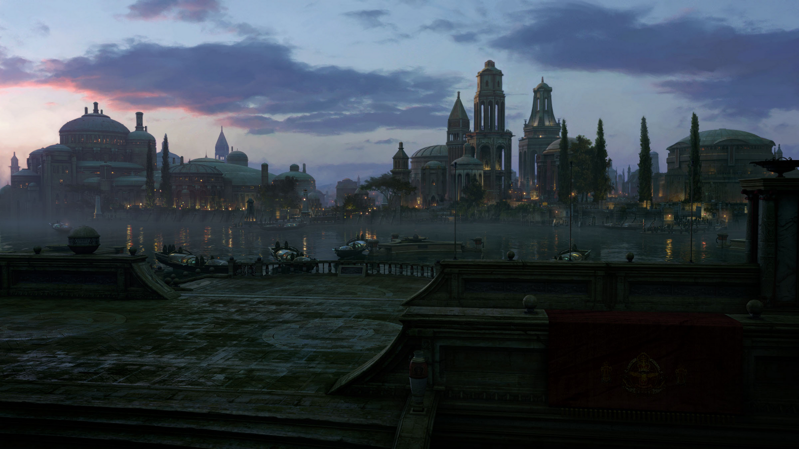 The City of Naboo Star Wars wallpaper 1600x900
