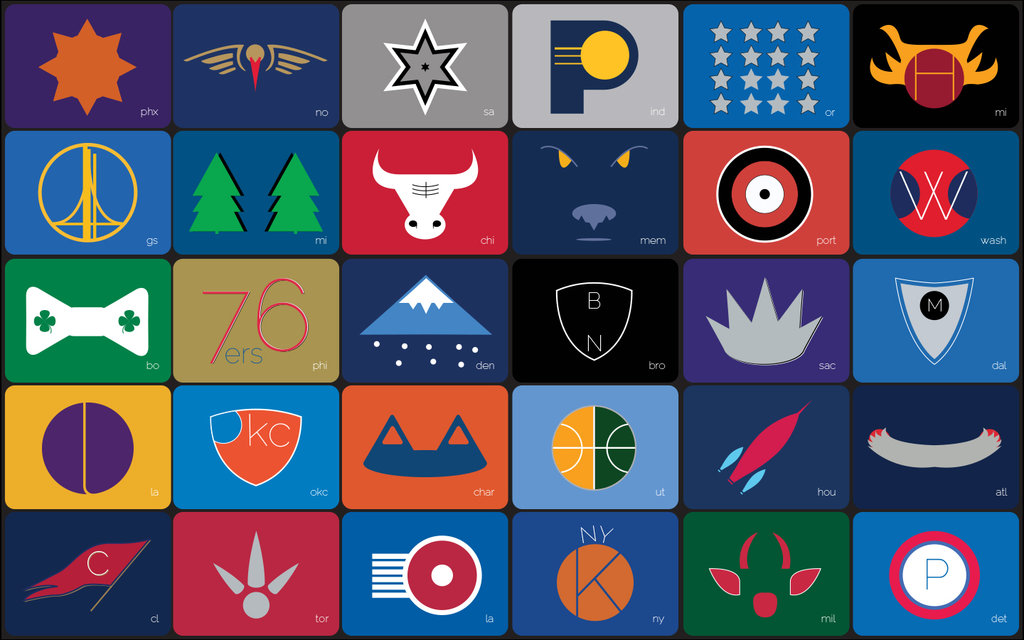 Nba Teams Wallpaper 2013 Nba teams minimalistic macbook 1024x640