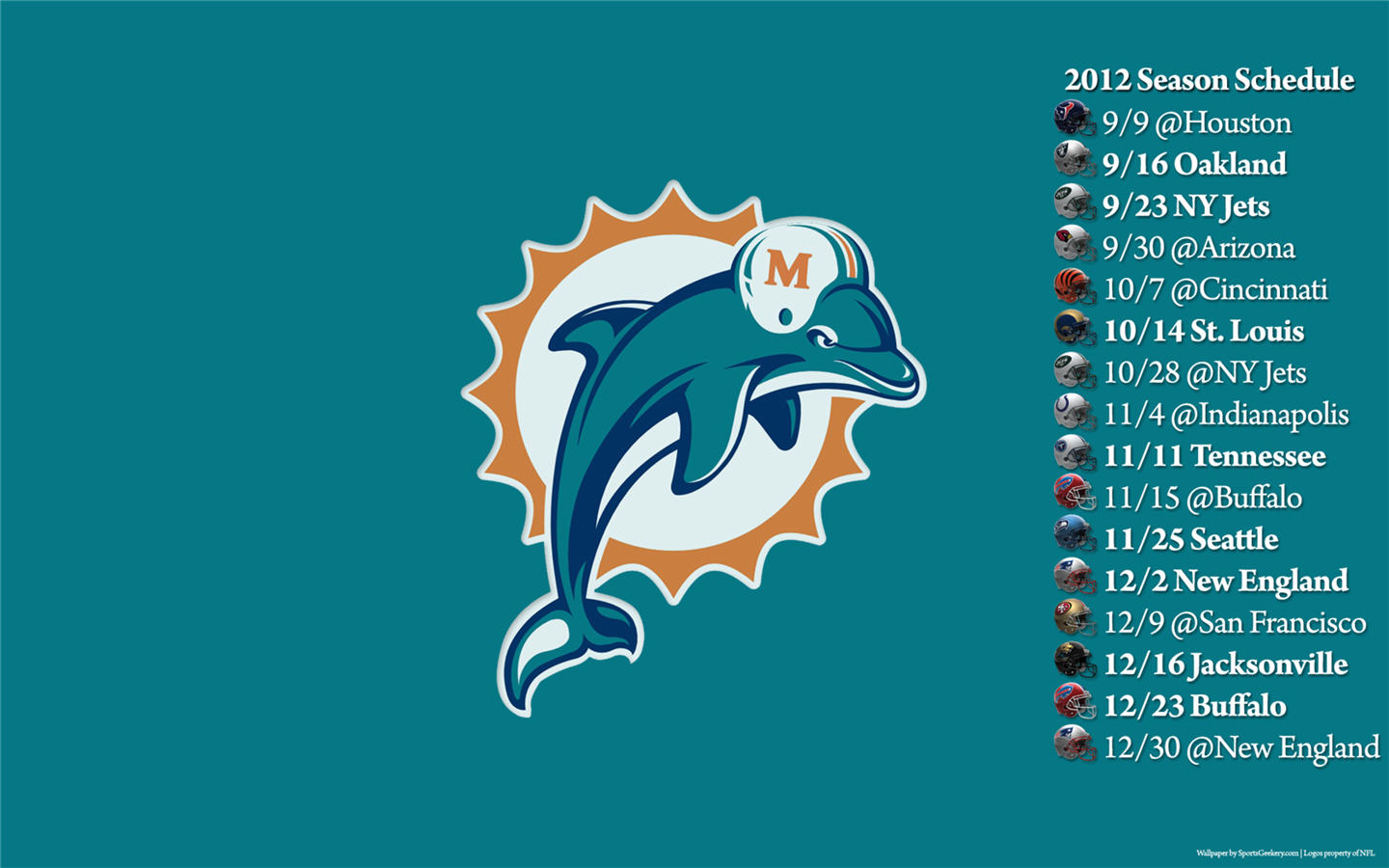 definition wallpapercomphotomiami dolphins logo wallpaper17html 1440x900