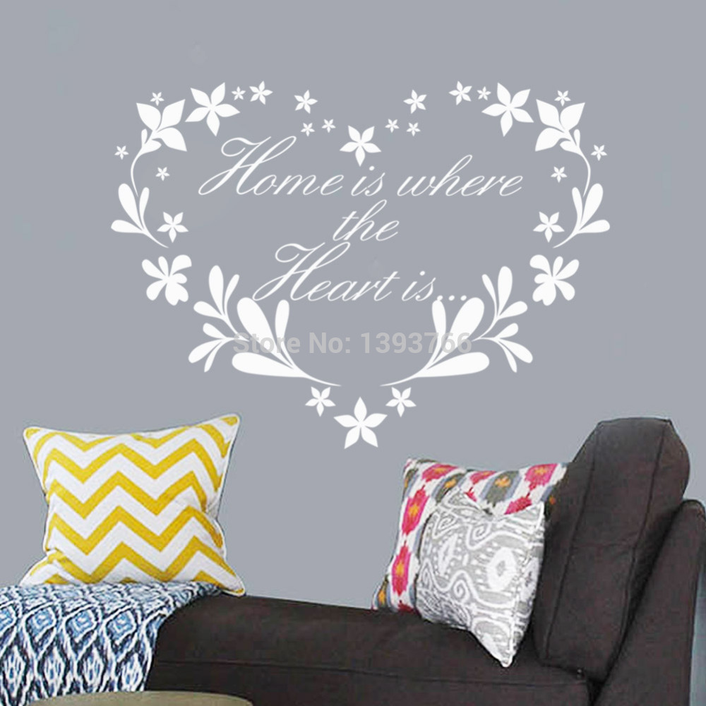 creative quote wall decals flower removable vinyl wallpaper artjpg 1000x1000