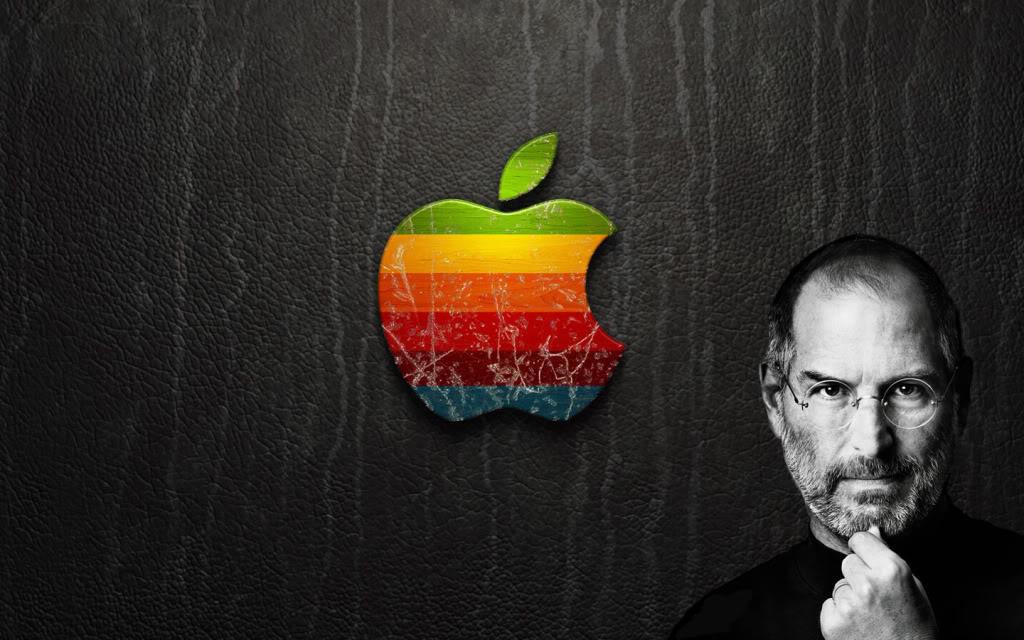 Free Download Steve Jobs Apple Logo Photo Steve Jobsapplejpg