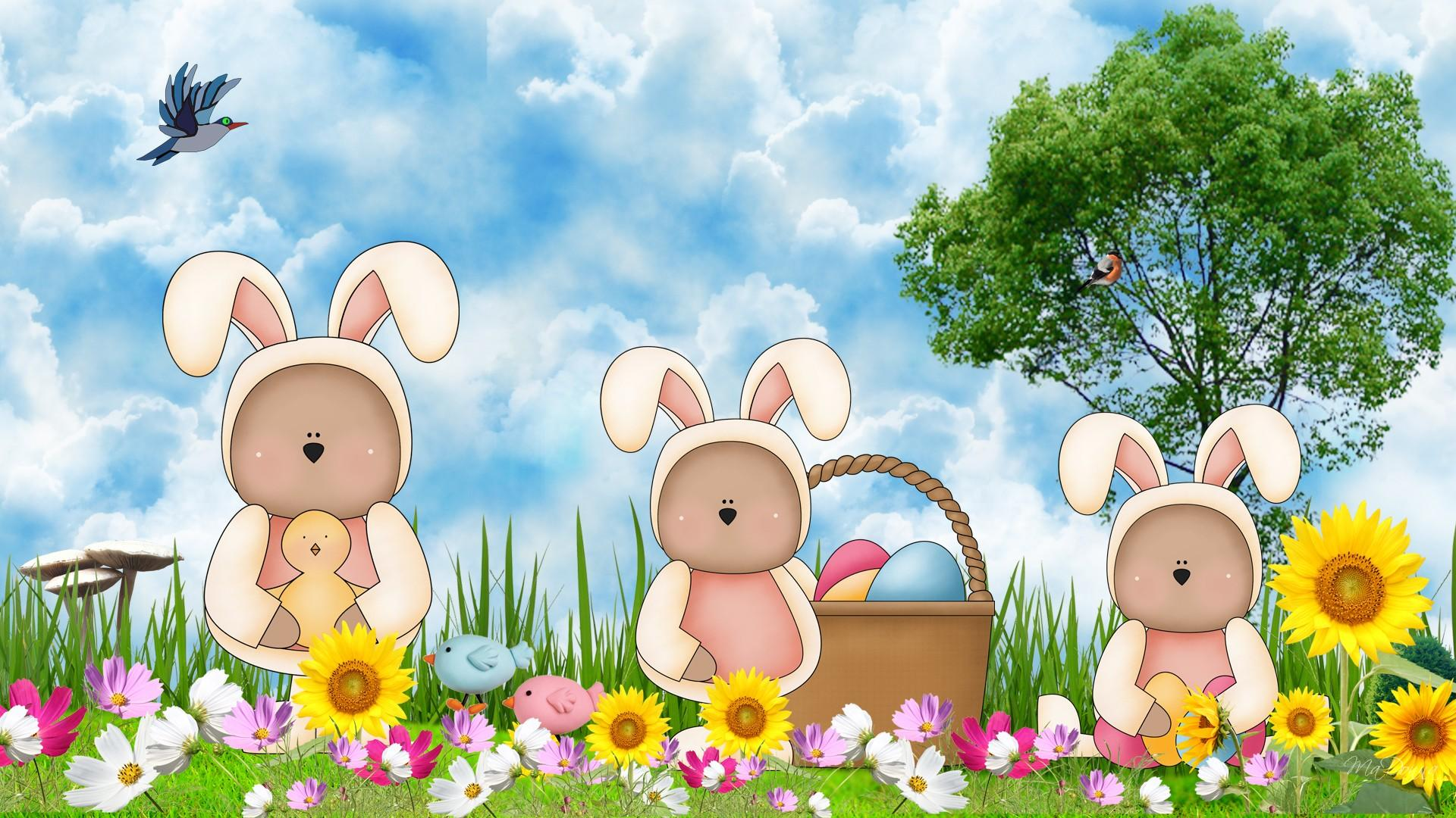 Happy Easter Holiday   Wallpaper High Definition High Quality 1920x1080
