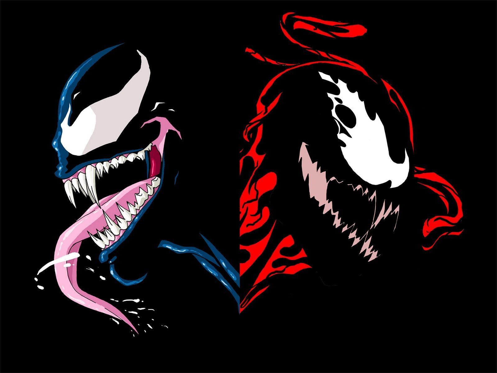 Dark Of Venom And Carnage Wallpaper Creative graphics Action 1600x1200