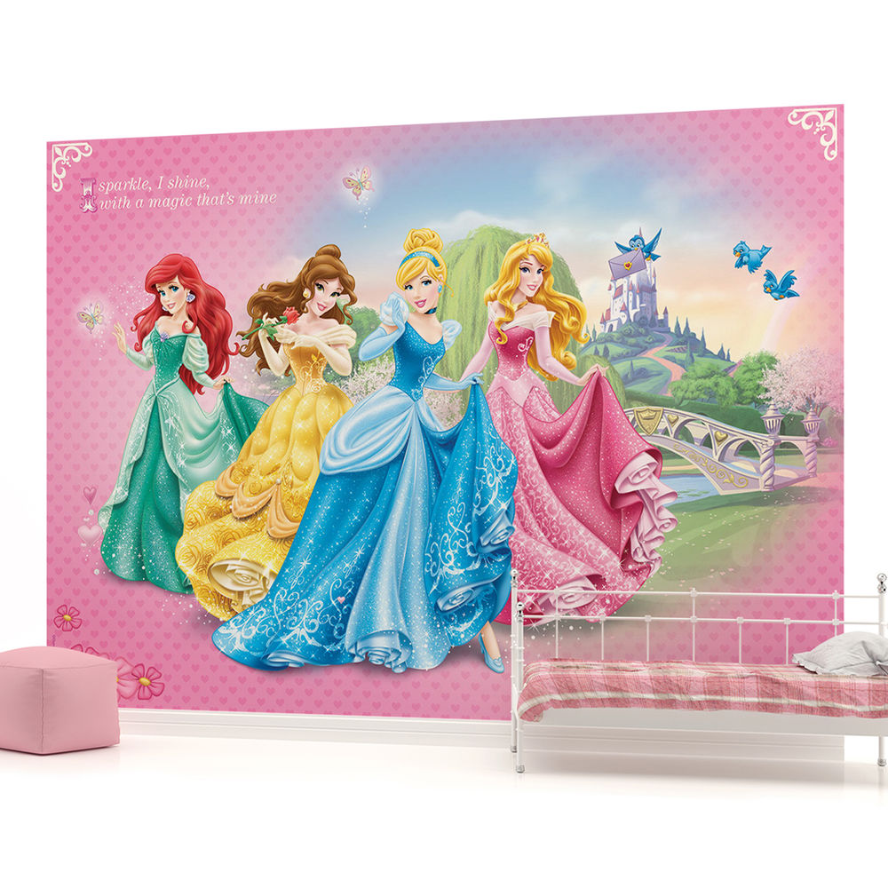 Disney Princesses Girls Kids Photo Wallpaper Wall Mural Room 198VE 1000x1000
