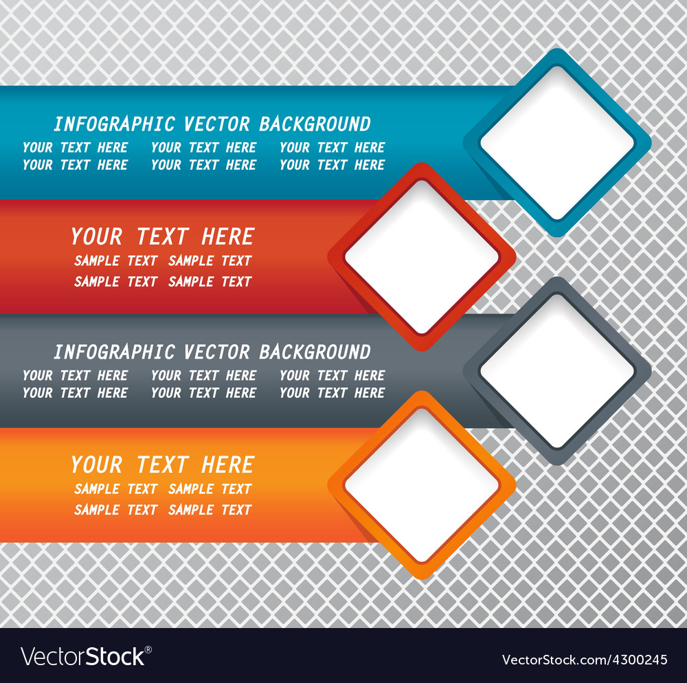 Modern infographic background Royalty Vector Image 1000x994