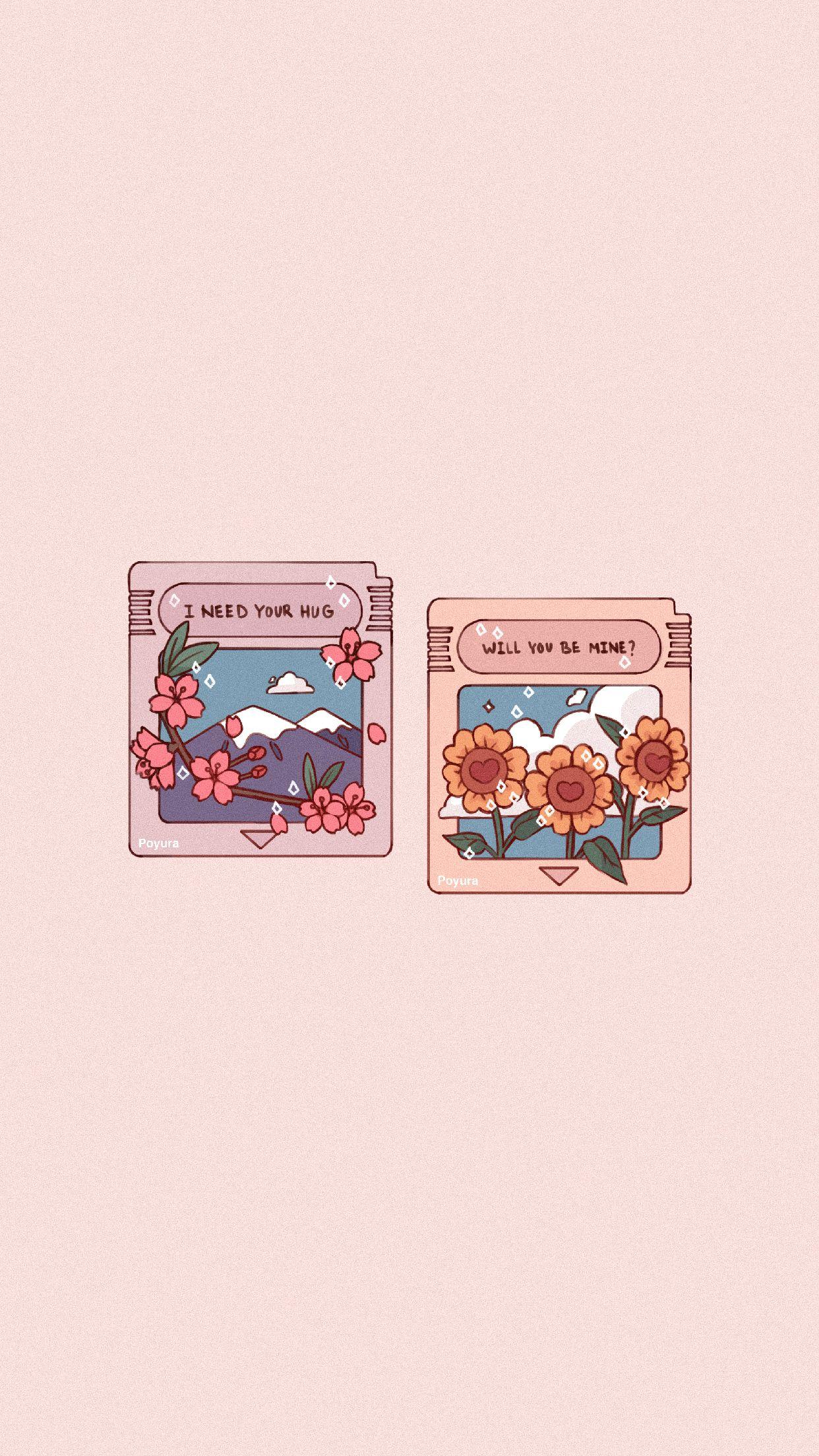 Aesthetic Flower Plant Game Sticker   Kawaii Sunflower 1242x2208