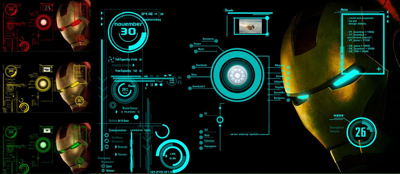 IronMan Jarvis Theme Version 2 by scrollsofaryavart 1354x589