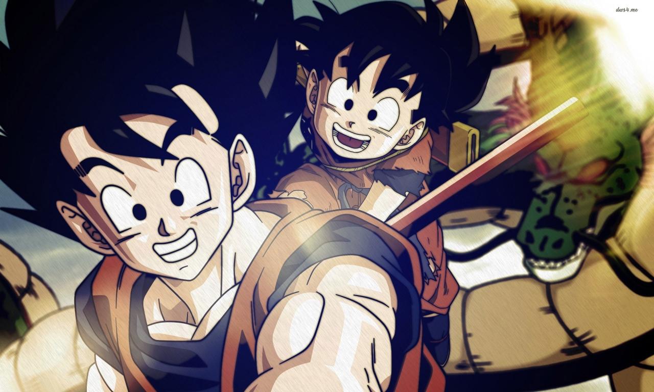 Goku y Gohan Dragon Ball Z HD 1280x768   Dibujos   wallpapers HD 2574 1280x768
