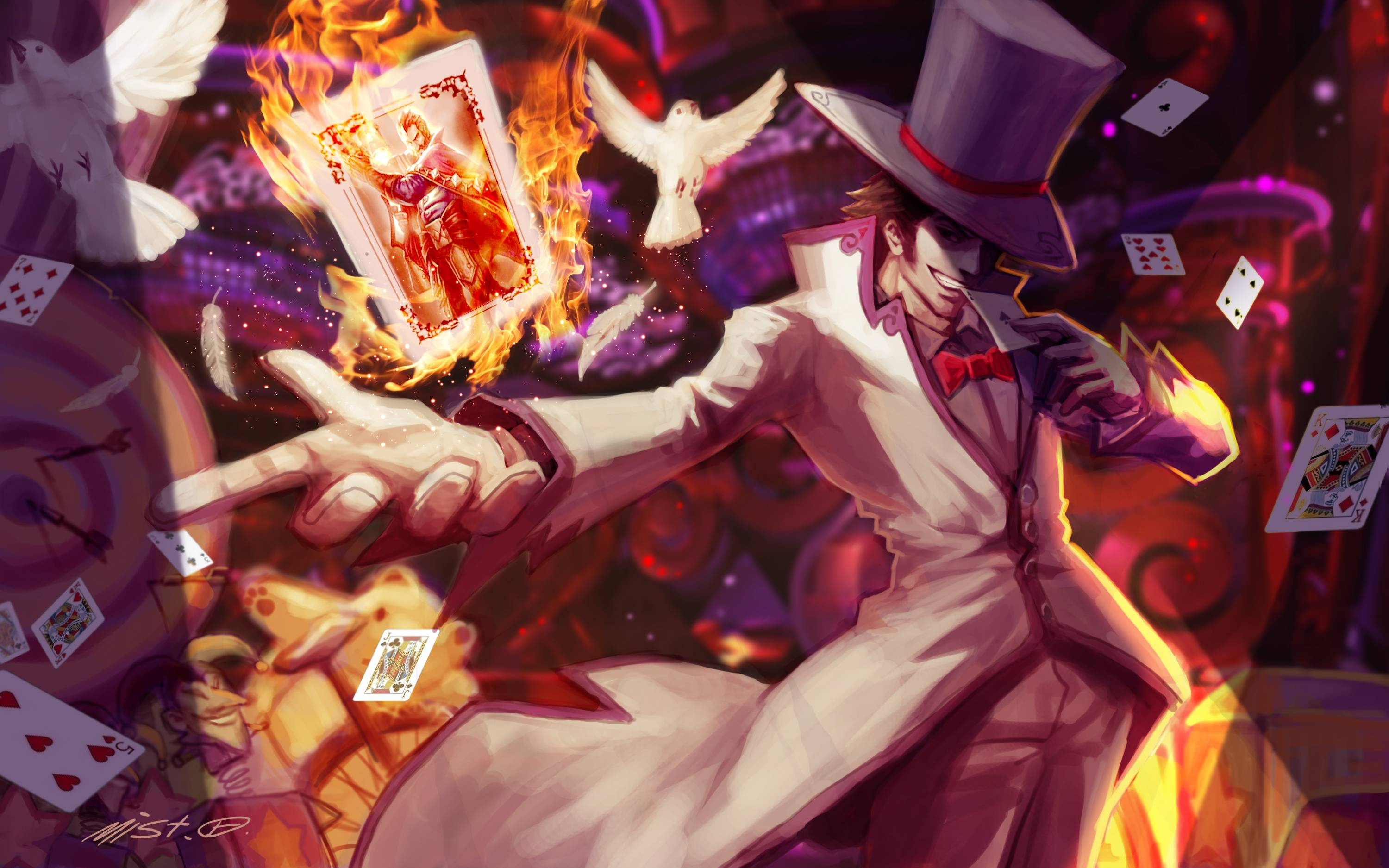 League Of Legends Twisted Fate Cards wallpaper 202698 3000x1875