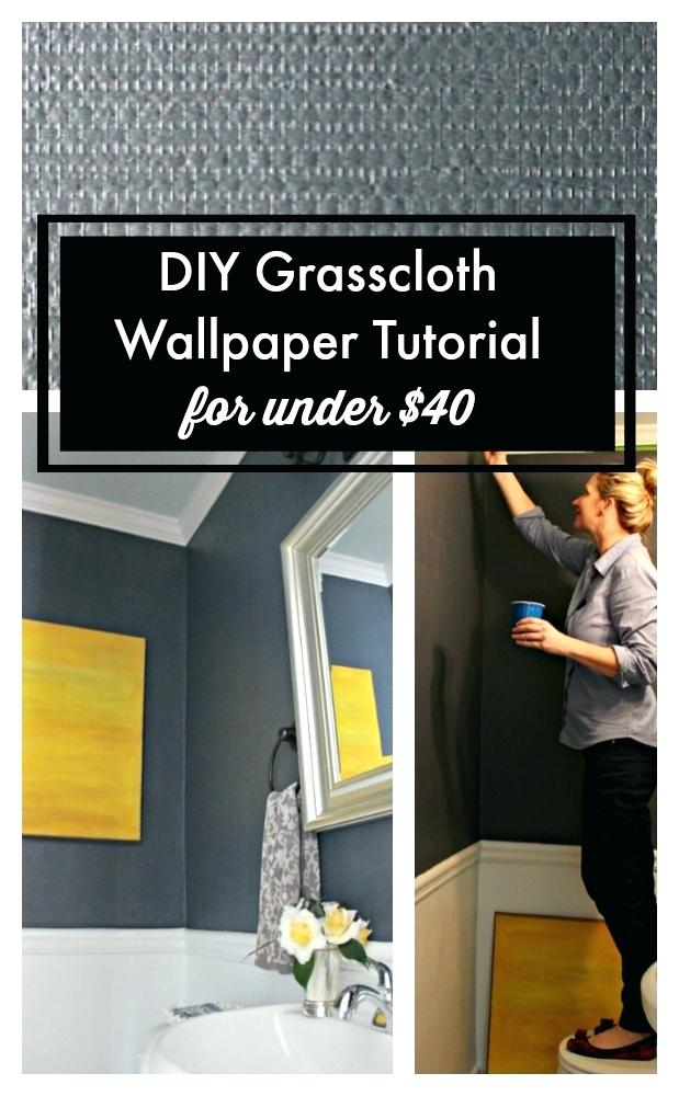 Navy Grasscloth Wallpaper Wallpaper Tutorial Navy Grasscloth 619x1000
