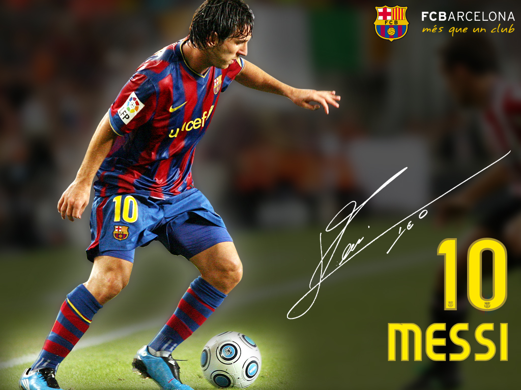 Messi   FC Barcelona Wallpaper 28737137 1024x768