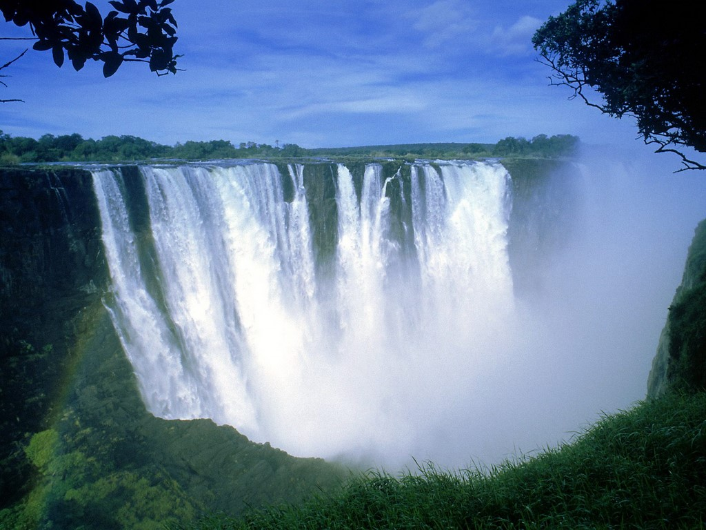 World Visits The Victoria Falls in Zimbabwe Cool Wallpaper 1024x768