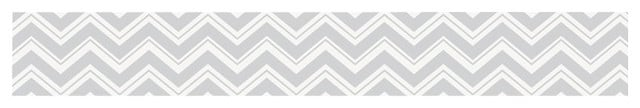 Zig Zag Turquoise and Gray Wall Paper Border by Sweet Jojo Designs 640x108
