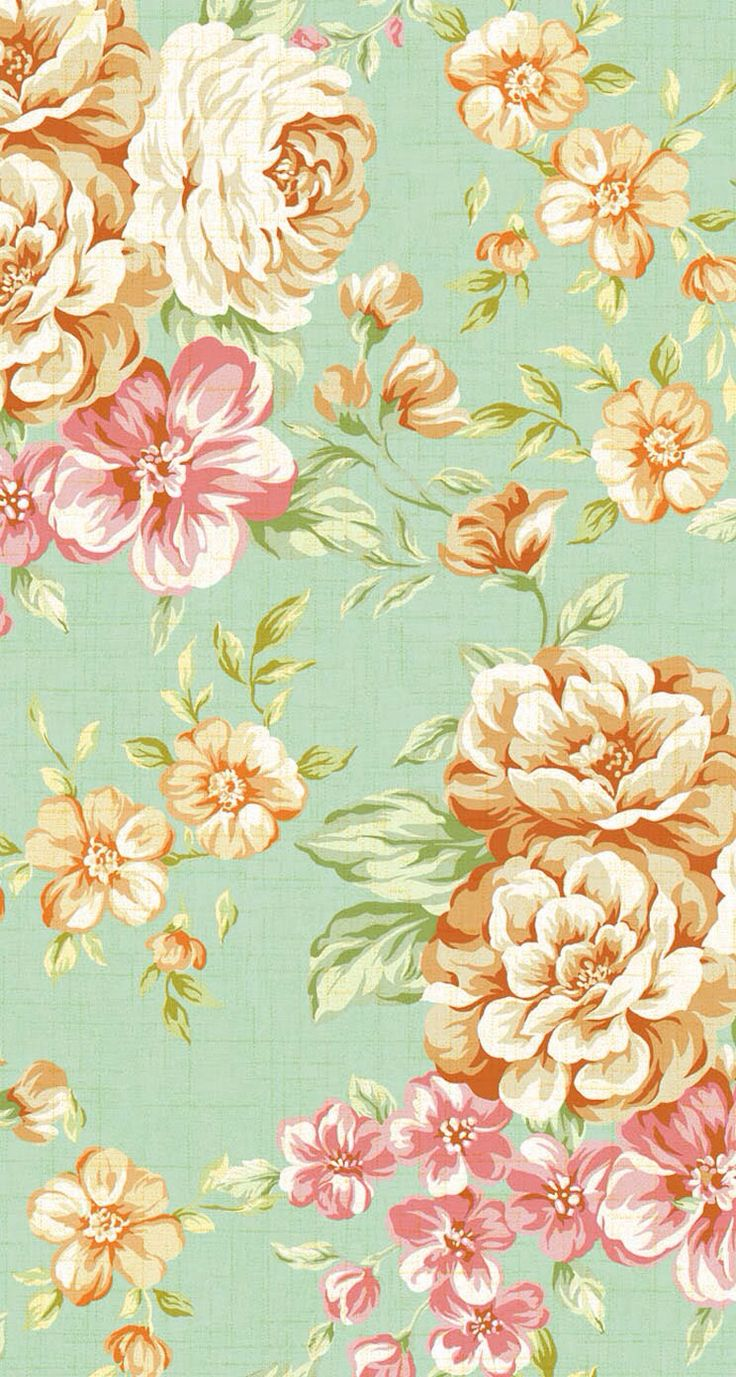 Iphone 5 Wallpapers Vintage Flower Print 3 More 736x1377