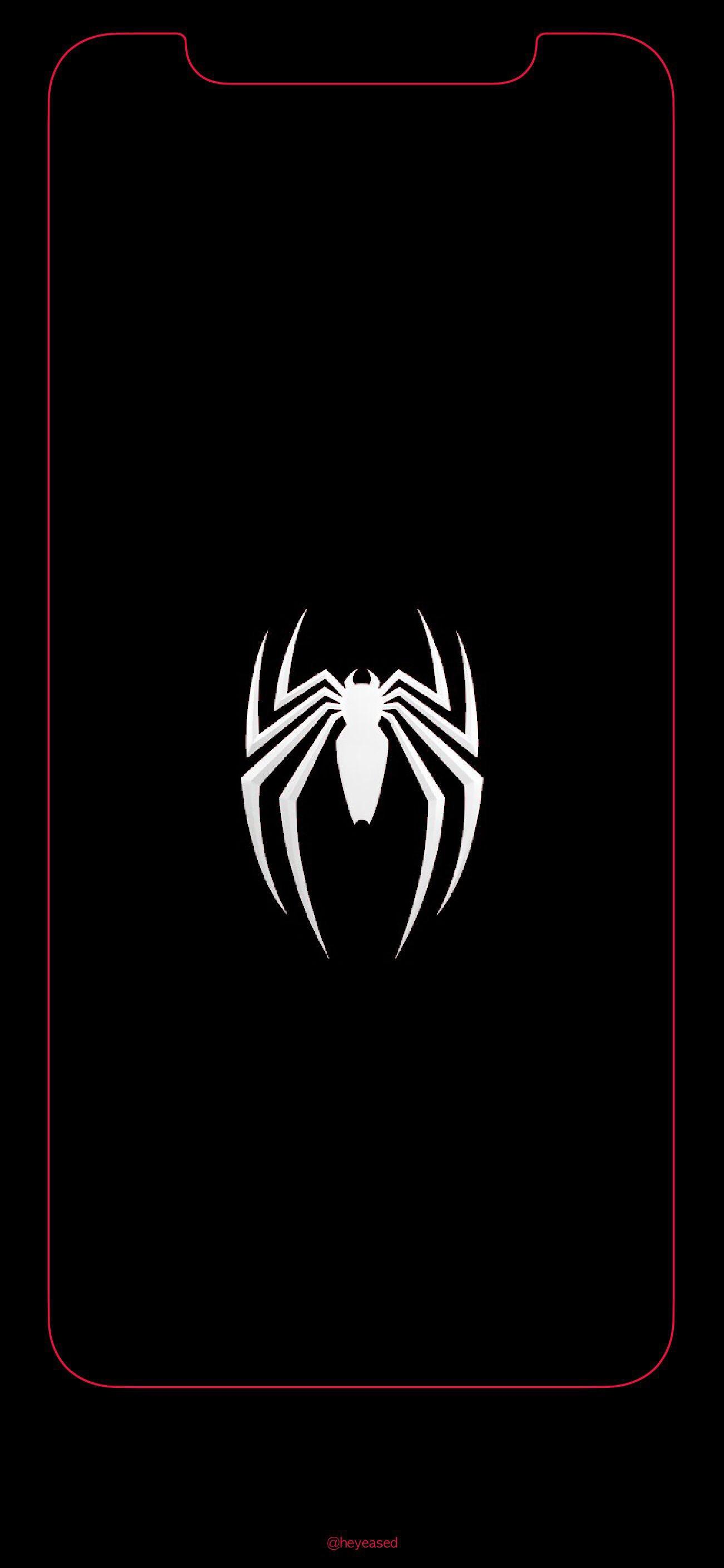 iPhone X Spiderman Logo Wallpaper SpidermanPS4 1301x2820