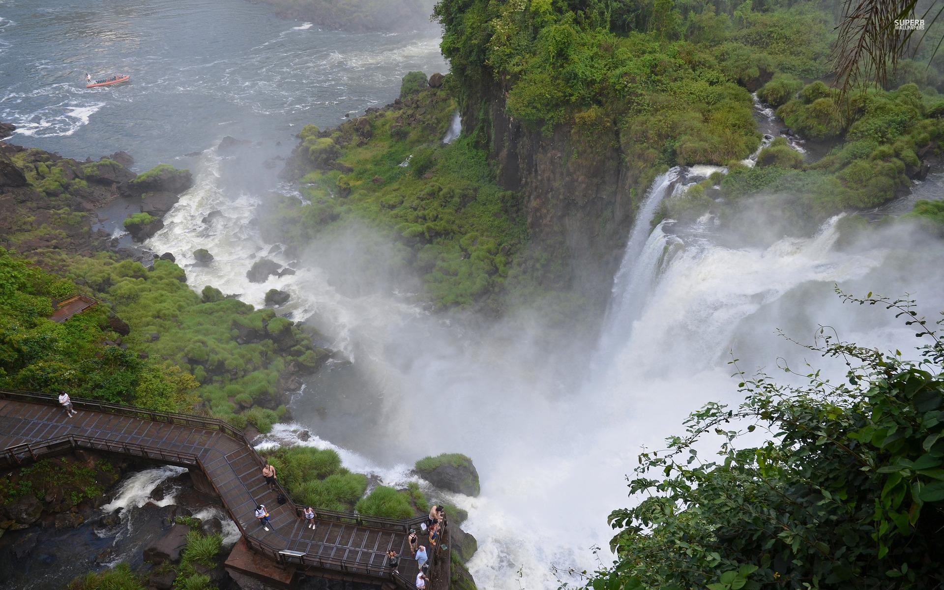 Falls Over Look wallpapers Iguazu Falls Over Look stock photos 1920x1200