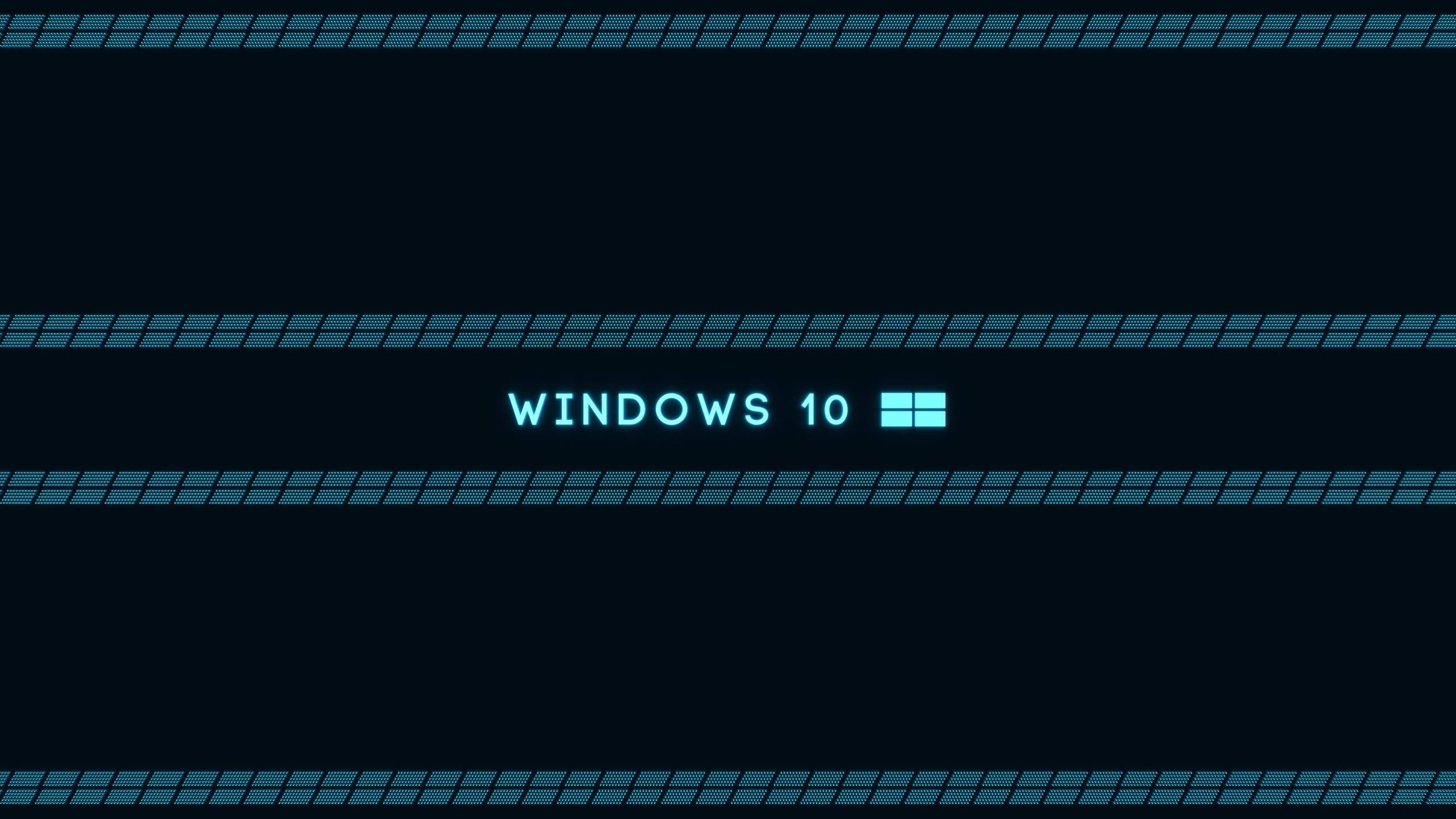 2560x1440 Microsoft Windows 10 OS Blue desktop PC and Mac wallpaper 2560x1440