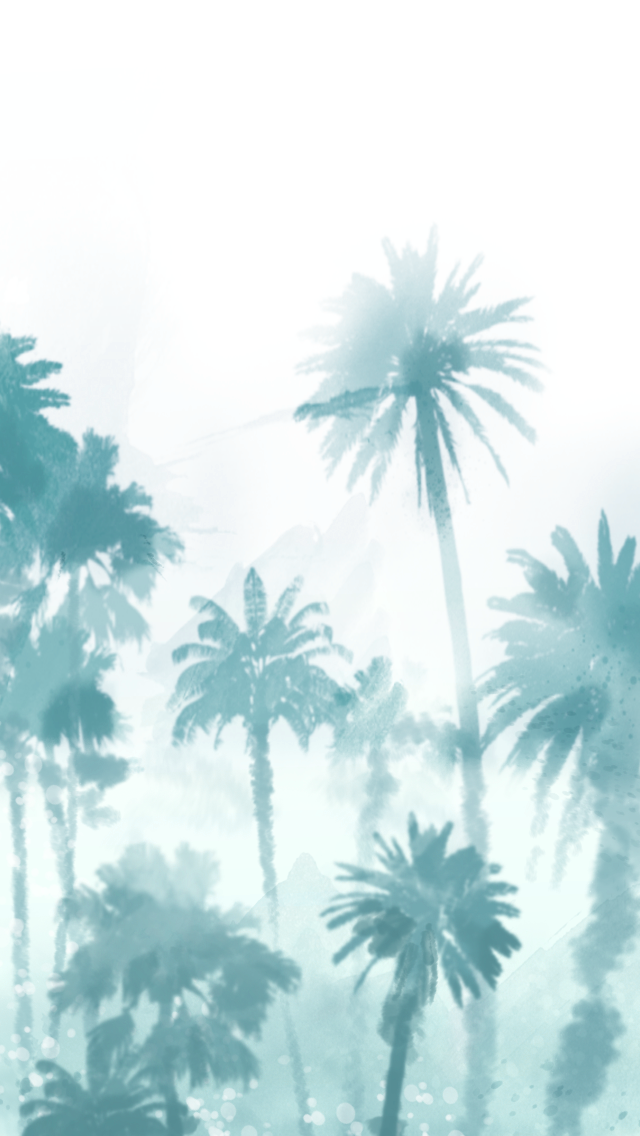 Palm Tree Print We Heart It Background Wallpaper And Trees 640x1136