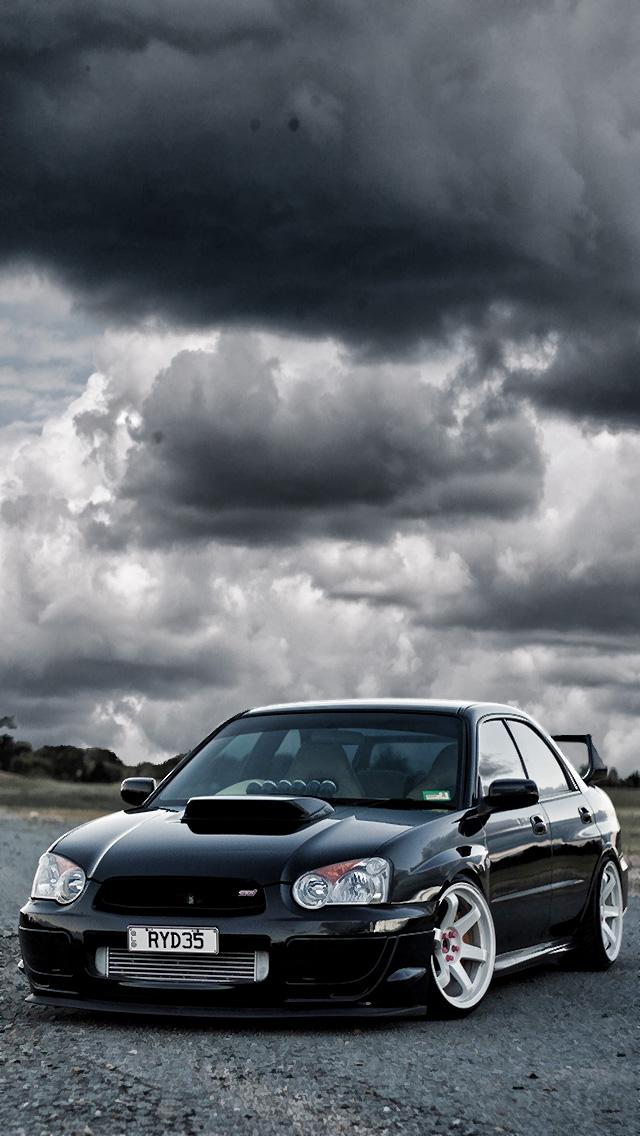 Sti Logo Wallpaper Black Subaru Wrx Sti Wallpaper 640x1136