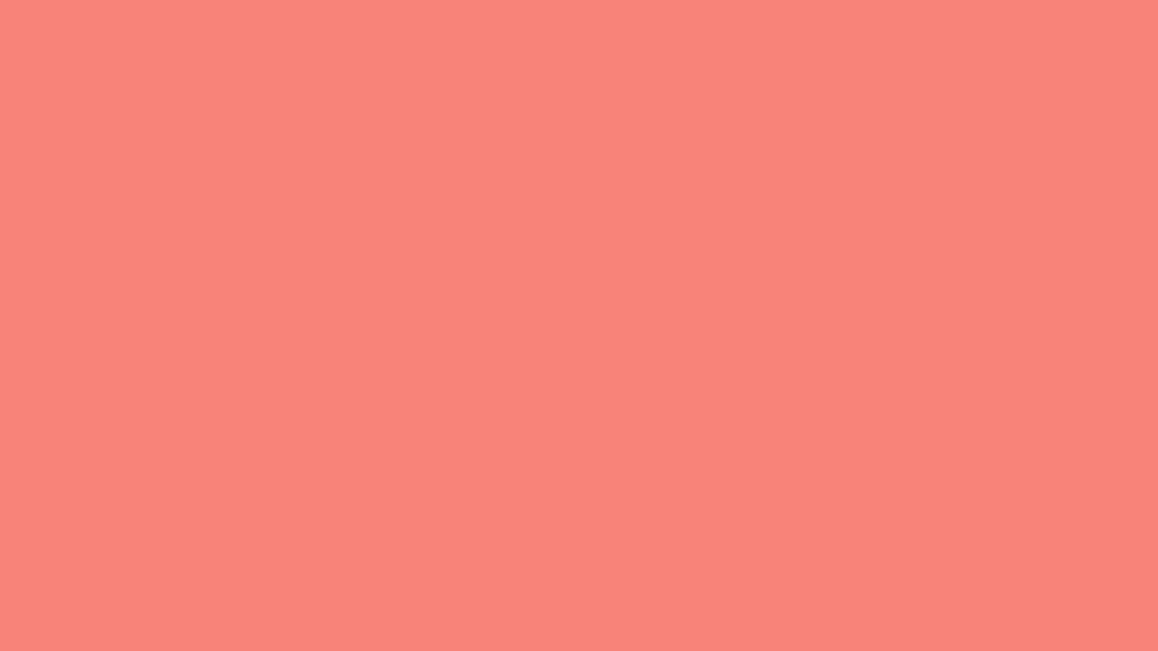 1280x720 resolution Coral Pink solid color background view and 1280x720