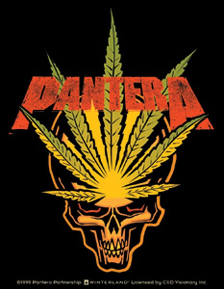 Music Home Decor Stickers Pantera Weed Leaf Skull Sticker 778x1001